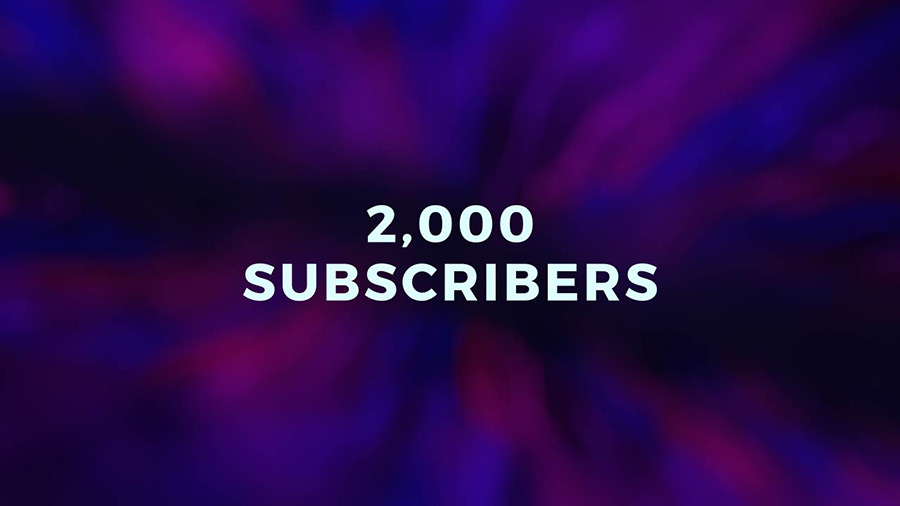 2,000 Subscribers - Thank You!